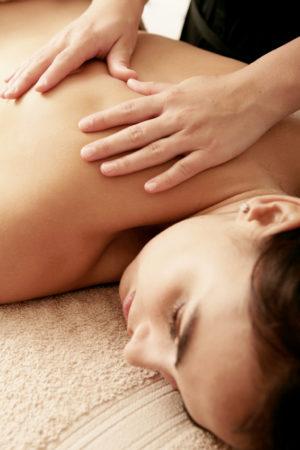 Stress relief back massage