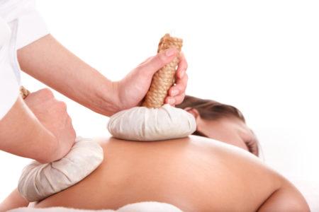Thai herb compress massage